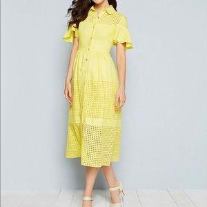 BELLE BADGLEY MISCHKA beautiful yellow dress💛